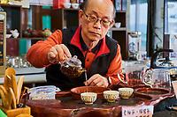 Taïwan, district  de Hsinchu, maison de thé King Tai Tea, ceremonie du thé avec monsieur Lo Chi-Chuan// Taiwan, Hsinchu county, King Tai tea teahouse, tea ceremony with mister Lo Chi-Chuan