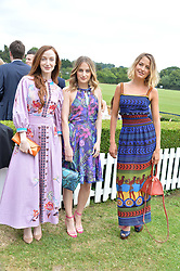 Olivia Grant, Rosie Fortescue, Tess Ward at the Laureus King Power Cup polo match held at Ham Polo Club, Richmond, London England. 22 June 2017.<br /> Photo by Dominic O'Neill/SilverHub 0203 174 1069 sales@silverhubmedia.com