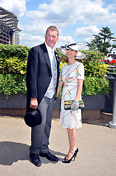 SIR MATTHEW & LADY PINSENT  at at the first day of the 2009 Royal Ascot racing festival on 16th June 2009.