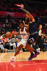 October 9, 2018 - Los Angeles, CA, U.S. - LOS ANGELES, CA - OCTOBER 09: Los Angeles Clippers Guard Shai Gilgeous-Alexander (2) makes a move during an NBA preseason game between the Denver Nuggets and the Los Angeles Clippers on October 9, 2018 at STAPLES Center in Los Angeles, CA. (Credit Image: © Brian Rothmuller/Icon SMI via ZUMA Press)