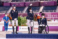 - Dressage Team Test to Music Victory Ceremony - Equestrian Park, Setagaya City, Tokyo, Japan - 29 August 2021