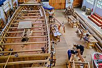 Espagne, Pays Basque, Guipuscoa, Pasaia, Albaola, Faktoria Maritime Basque, construction du baleinier San Juan // Spain, Basque Country, Guipuscoa, Pasaia, Albaola, Faktoria Maritime Basque, construction of the whaling ship San Juan