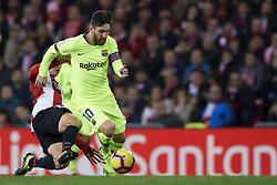 February 10, 2019 - Bilbao, Vizcaya, Spain - Lionel Messi of Barcelona controls the ball during the week 23 of La Liga between Athletic Club and FC Barcelona at San Mames stadium on February 10 2019 in Bilbao, Spain. (Credit Image: © Jose Breton/NurPhoto via ZUMA Press)