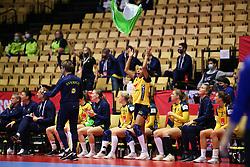 HERNING, DENMARK - DECEMBER 3, 2020: Jamina Roberts (8) of Sweden during the EHF Euro 2020 Group C match between Sweden and Czech Republic in Jyske Bank Boxen, Herning, Denmark on December 3 2020. Photo Credit: Allan Jensen/EVENTMEDIA.