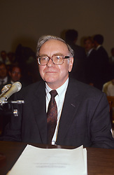 April 6, 2012 - Washington, District of Columbia, United States of America - Washington DC. Sept. 4 1991.Warren Buffet testifies beforeThe House subcommittee on the Salomon brothers scandal in which he took over as chairman of the board of the company to guide it out of it's troubles with the Fed..Credit: Mark Reinstein (Credit Image: © Mark Reinstein/ZUMA Wire)