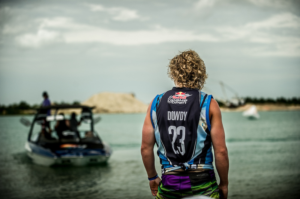 Mike Dowdy gets ready for his heat at the RedBull Wake Open in Tampa, Florida on July 3rd, 2013.