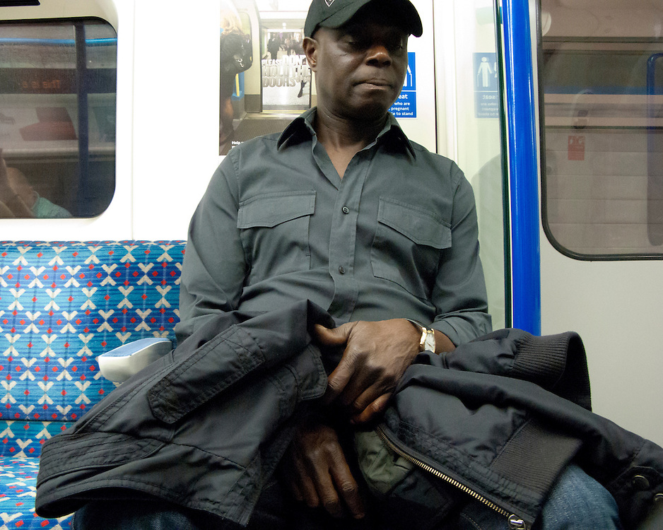 Portrait of a londoner travelling on the London Underground Network