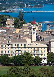 View over the historic town of Kerkyra on Corfu Island in Greece
