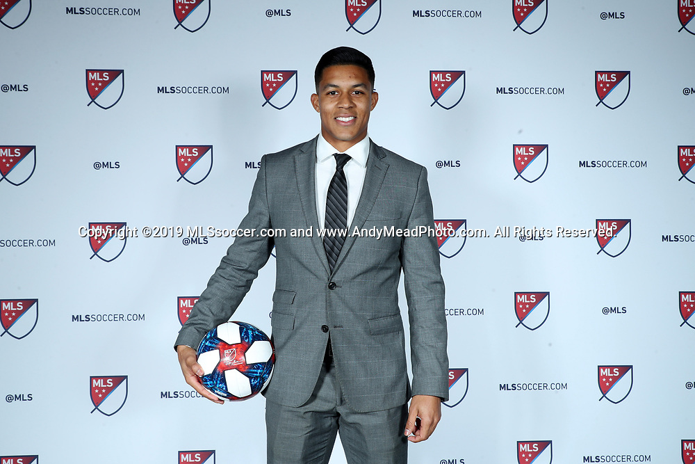 CHICAGO, IL - JANUARY 11: Santiago Patino was taken with the third overall pick by Orlando City SC. The MLS SuperDraft 2019 presented by adidas was held on January 11, 2019 at McCormick Place in Chicago, IL.