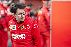 February 28, 2019 - Montmelo, BARCELONA, Spain - Mattia Binotto, boss of the Scuderia Ferrrari, seen in action during the winter testing days at the Circuit de Catalunya in Montmelo (Catalonia), Thursday, February 28, 2019. (Credit Image: © AFP7 via ZUMA Wire)