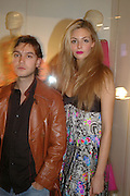 Asier Newman and Tamsin Egerton, 10 Years in Fashion, private view. Design Museum. shad thames. London. 16 October 2007. -DO NOT ARCHIVE-© Copyright Photograph by Dafydd Jones. 248 Clapham Rd. London SW9 0PZ. Tel 0207 820 0771. www.dafjones.com.