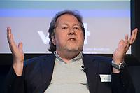 """13 JUN 2012, BERLIN/GERMANY:<br /> Prof. Dieter Gorny, Vorstandsvorsitzender, Bundesverband Musikindustrie e.V. Diskussionsveranstaltung """"Neue Prespektiven im Urheberrecht"""", Verband Privater Rundfunk und Telemedien e.V., vprt, Bertelsmann-Repräsentanz<br /> IMAGE: 20120613-01-150"""