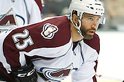 DALLAS, TX - NOVEMBER 1:  Maxime Talbot #25 of the Colorado Avalanche looks on against the Dallas Stars on November 1, 2013 at the American Airlines Center in Dallas, Texas.  (Photo by Cooper Neill/Getty Images) *** Local Caption *** Maxime Talbot