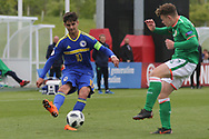 Ajdin Hasic of Bosnia and Herzegovina (10) crossing the ball during the UEFA European Under 17 Championship 2018 match between Bosnia and Republic of Ireland at Stadion Bilino Polje, Zenica, Bosnia and Herzegovina on 11 May 2018. Picture by Mick Haynes.