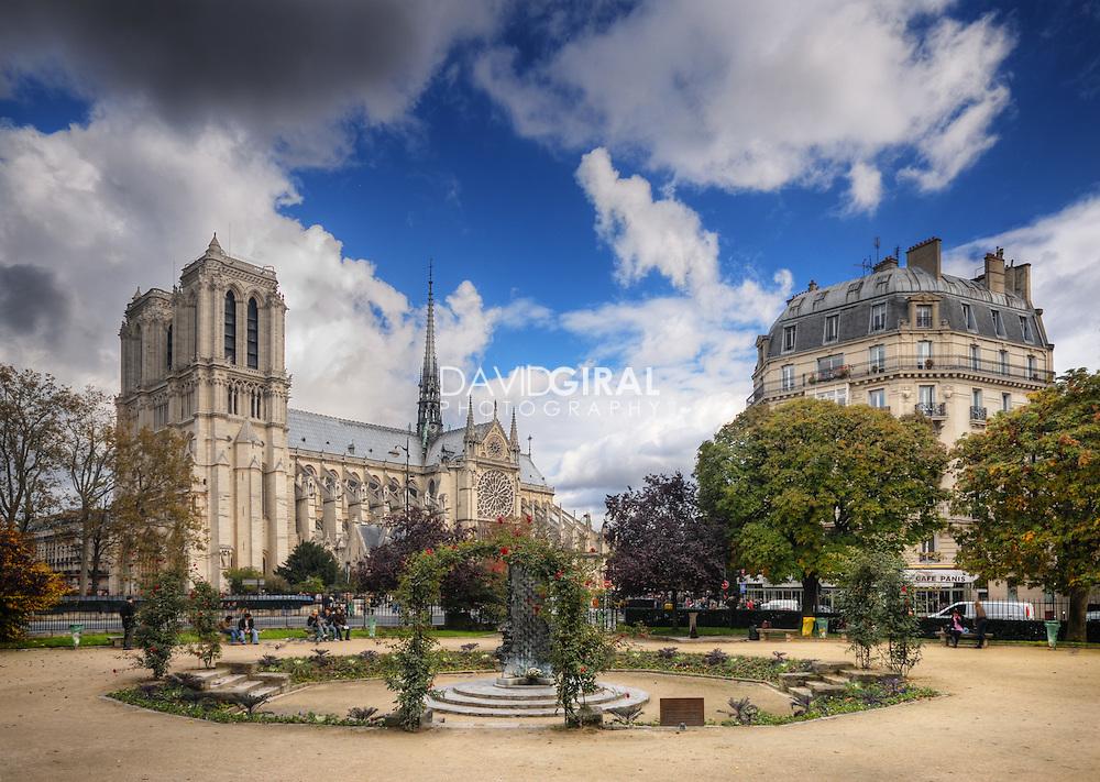 Dreamy Afternoon at the Square René Viviani, Paris, France