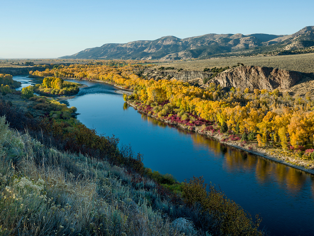 South Fork Snake River Autumn Ririe, Idaho.  Licensing and Open Edition Prints