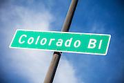 Colorado Boulevard Street Sign in Pasadena