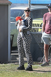 """EXCLUSIVE: Amber Rose attending her son's baseball game with Wiz Khalifa and her new son's baby daddy Alexander """"AE"""" Edward. 15 Feb 2020 Pictured: Amber Rose. Photo credit: MEGA TheMegaAgency.com +1 888 505 6342"""
