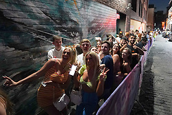 © Licensed to London News Pictures. 19/07/2021. Liverpool, UK. Revellers queuing up outside Level night club in Liverpool after lockdown restrictions were eased in England..  Photo credit: Ioannis Alexopoulos/LNP