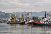 Tugboats at the port of Batumi, Georgia