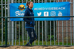 Angie Akers in action. From July 1, competition in the Netherlands may be played again for the first time since the start of the corona pandemic. Nevobo and Sportworx, the organizer of the DELA Eredivisie Beach volleyball, are taking this opportunity with both hands. At sunrise, Wednesday exactly at 5.24 a.m., the first whistle will sound for the DELA Eredivisie opening tournament in Zaandam on 1 July 2020 in Zaandam.