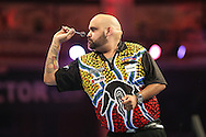 Kyle Anderson during the First Round of the BetVictor World Matchplay Darts at the Empress Ballroom, Blackpool, United Kingdom on 19 July 2015. Photo by Shane Healey.