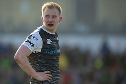 March 2, 2019 - Galway, Ireland - Luke Price of Ospreys with a bloody nose during the Guinness PRO 14 match  between Connacht Rugby and Ospreys at the Sportsground in Galway, Ireland on March 2, 2019  (Credit Image: © Andrew Surma/NurPhoto via ZUMA Press)