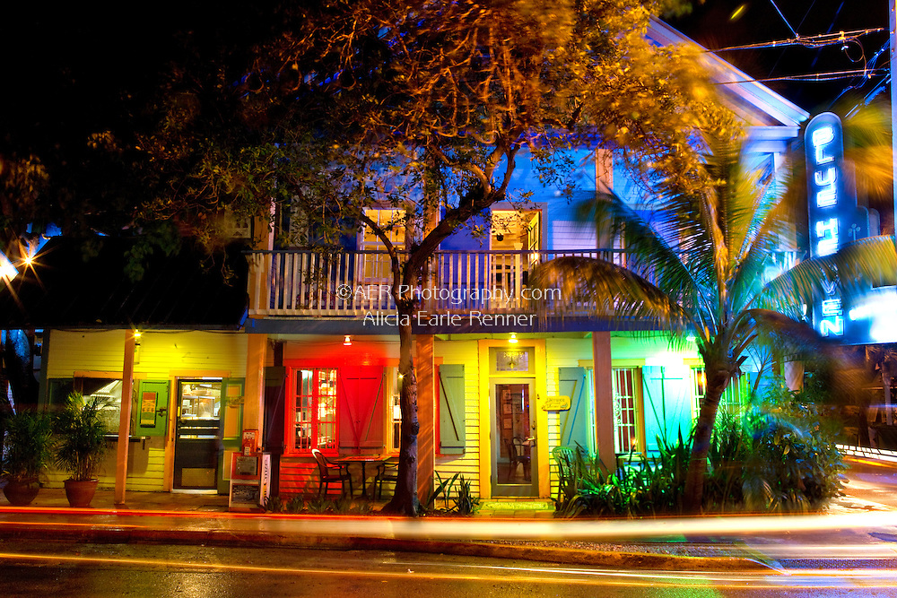 Blue Heaven Restaurant located in the heart of old Key West's Bahama village.  Award winning and written about by Jimmy Buffett