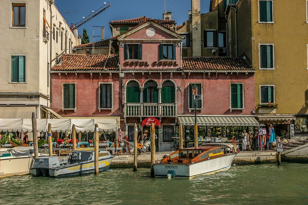 A tiny hotel in Venice, Italy.