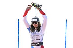 March 16, 2019 - Al Tarter, Andorra - Wendy Holdener of Switzerlad Ski Team, after finish in 3rd place at Ladies Giant Slalom Audi FIS Ski World Cup, on March 16, 2019 in El Tarter, Andorra. (Credit Image: © Joan Cros/NurPhoto via ZUMA Press)