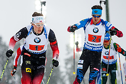 March 16, 2019 - –Stersund, Sweden - 190316 Lars Helge Birkeland of Norway and Matvey Eliseev of Russia competes in the Men's 4x7,5 km Relay during the IBU World Championships Biathlon on March 16, 2019 in Östersund..Photo: Johan Axelsson / BILDBYRÃ…N / Cop 245 (Credit Image: © Johan Axelsson/Bildbyran via ZUMA Press)