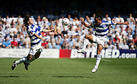 Fotball<br /> Foto: SBI/Digitalsport<br /> NORWAY ONLY<br /> <br /> QPR v Rotherham<br /> The Coca-Cola Championship at Loftus Road.<br /> 07/08/2004<br /> <br /> QPR's l-r Gareth Ainsworth and Marcus Bignot after the ball in the game against Rotherham