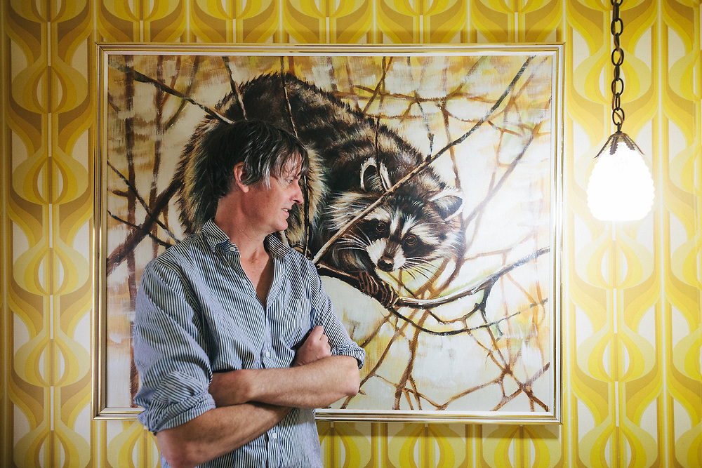 PORTLAND, OR - APRIL 27: Musician Stephen Malkmus at home. (Photo by Jason Quigley/For The Washington Post)