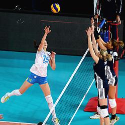 28-09-2015 NED: Volleyball European Championship Polen - Slovenie, Apeldoorn<br /> Polen wint met 3-0 van Slovenie / Marina Cvetanovic<br /> Photo by Ronald Hoogendoorn / Sportida