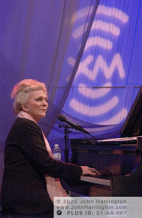 Judy Collins, an American folk and standards singer, performs at XM during her Artist Confidential on Friday October 8, 2004.