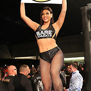 FORT LAUDERDALE, FL - FEBRUARY 15: A BKFC ring card girl is seen during the Bare Knuckle Fighting Championships at Greater Fort Lauderdale Convention Center on February 15, 2020 in Fort Lauderdale, Florida. (Photo by Alex Menendez/Getty Images) *** Local Caption ***