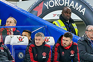 Manchester United interim Manager Ole Gunnar Solskjaer during the The FA Cup match between Chelsea and Manchester United at Stamford Bridge, London, England on 18 February 2019.