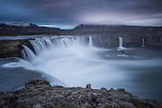 Godafoss is a waterfall near Akureyri.