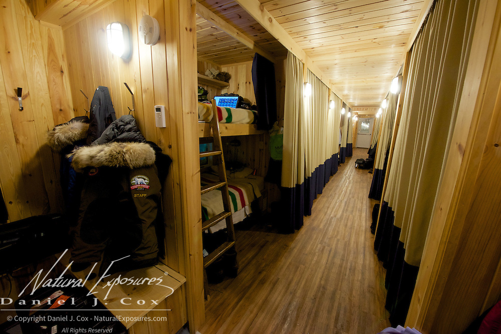 TundraBuggy Lodge bunkhouse known as Laperouse at Cape Churchill, Manitoba.