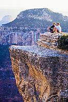 View from Bright Angel Point, North Rim, Grand Canyon, Grand Canyon National Park, Arizona USA