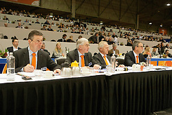 Jury: Versteeg Wim, Van Woudenbergh Reijer, Hamoen Arie, Ernes Wim<br /> KWPN Hengstenkeuring - 's Hertogenbosch 2012<br /> © Dirk Caremans