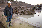 Photos of quarry workers