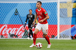 July 3, 2018 - Saint Petersburg, Russia - Granit Xhaka of Switzerland national team during the 2018 FIFA World Cup Russia Round of 16 match between Sweden and Switzerland on July 3, 2018 at Saint Petersburg Stadium in Saint Petersburg, Russia. (Credit Image: © Mike Kireev/NurPhoto via ZUMA Press)