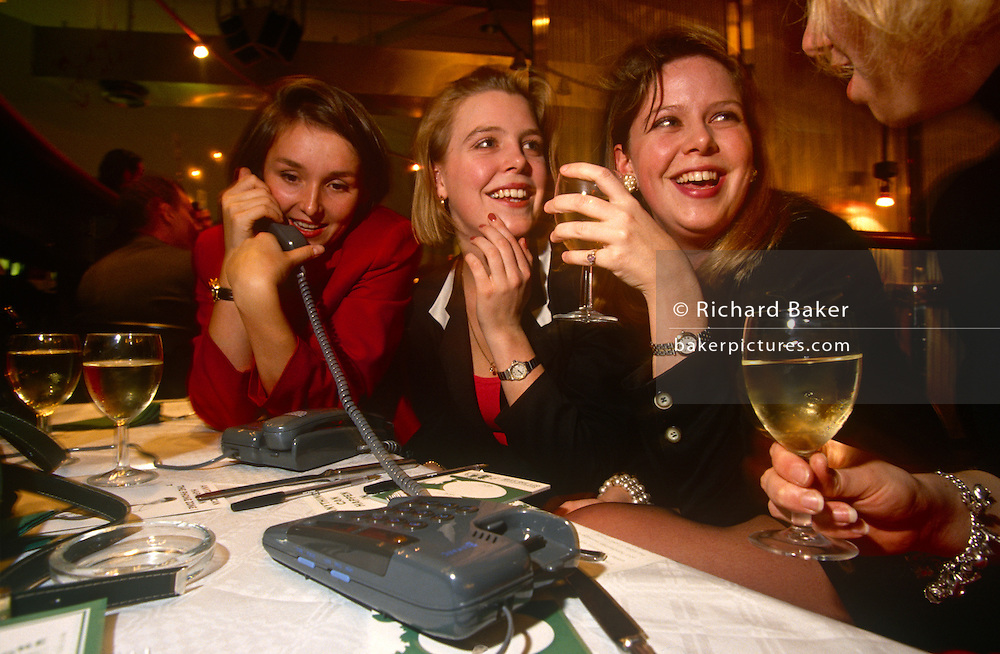 During a phone speed-dating night in a City of London wine bar, a group of young girls enjoy white wine, their girlfriends' company but also, the possibility of finding a male mate. With the boys an other tables whose numbers are swapped around they may find the love of their lives although the whole evening is a giggle for these pretty lady office workers in the capital's oldest quarter and heart of its financial district.
