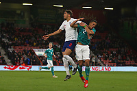 Football - 2018 / 2019 Under-21 International Friendly - England U21 vs. Germany U21<br /> <br /> Benjamin Henrichs of Germany gets caught on the face by an arm from Englands Dominic Calvert-Lewin at The Vitality Stadium (Dean Court) Bournemouth England <br /> <br /> COLORSPORT/SHAUN BOGGUST