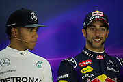 October 30-November 2 : United States Grand Prix 2014, Lewis Hamilton (GBR), Mercedes Petronas, Daniel Ricciardo (AUS), Red Bull-Renault