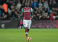 Football - 2016 / 2017 Premier League - West Ham United vs. Stoke City<br /> <br /> Cheikhou Kouyate of West Ham at The London Stadium.<br /> <br /> COLORSPORT/DANIEL BEARHAM