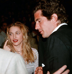 EXCLUSIVE: Madonna and JFK JR a the Mike Tyson v's Evander Holyfield fight at the MGM Grand Hotel in Las Vegas June 28th 1997. 28 Jun 1997 Pictured: Madonna and JFK JR a the Mike Tyson v's Evander Holyfield fight at the MGM Grand Hotel in Las Vegas June 28th 1997. Photo credit: MEGA TheMegaAgency.com +1 888 505 6342