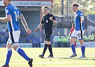 Referee Tony Harrington during the EFL Sky Bet League 1 match between Rochdale and Charlton Athletic at Spotland, Rochdale, England on 5 May 2018. Picture by Paul Thompson.