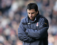 Photo: Lee Earle.<br /> Fulham v Arsenal. The Barclays Premiership. 04/03/2006. Fulham manager Chris Coleman looks glum as they trail to Arsenal.